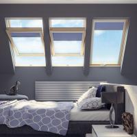 Деревянные мансардные окна со среднеповоротным открыванием